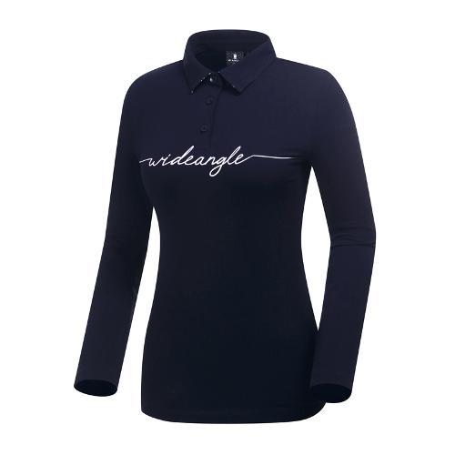 [와이드앵글] 여성 반전카라 포인트 티셔츠 WWP19235N4
