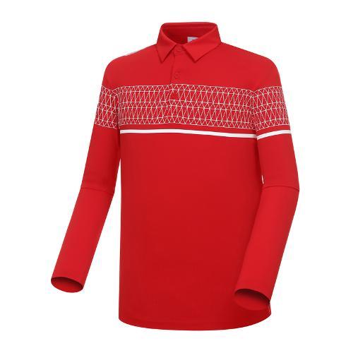 [와이드앵글] 남성 패턴 보더 배색 티셔츠 WMP18205R2