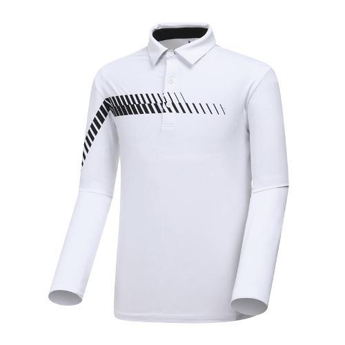 [와이드앵글] 남성 솔리드 패턴 포인트 티셔츠 WMP19201W2
