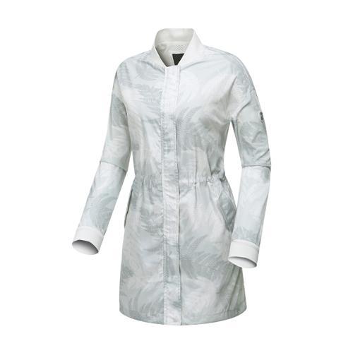 [와이드앵글] 여성 나뭇잎 패턴 긴기장 자켓 WWP17171W5