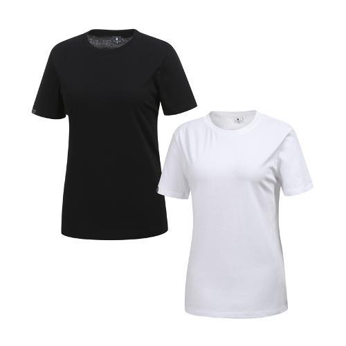 [와이드앵글] 여성 심플 티셔츠 트래블 PACK WWM19260W2