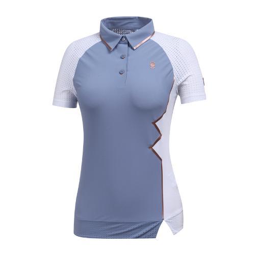 [와이드앵글] W리미티드 펀칭소매 카라 티셔츠 WWM19215B1