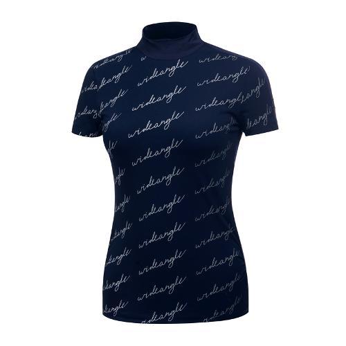 [와이드앵글] 여성 그라데이션 프린트 하이넥 티셔츠 WWM19238N4