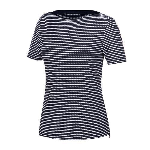 [와이드앵글] 여성 스트라이프 보트넥 티셔츠 WWM19262N4