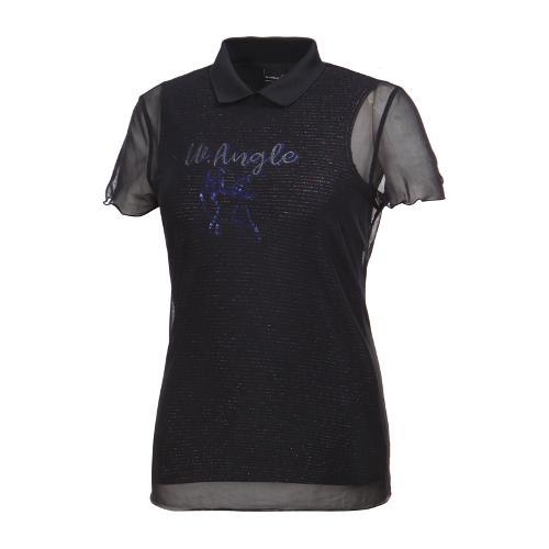 [와이드앵글] 여성 클럽스칸딕 시스루 카라 티셔츠 WWM19248Z1