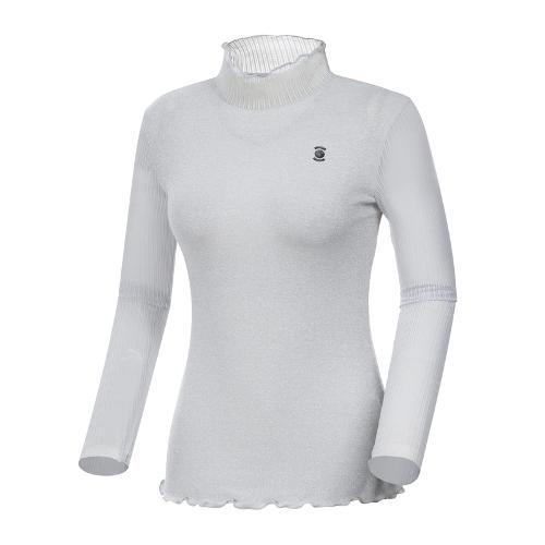 [와이드앵글] 여성 클럽스칸딕 펄소재 이너형 티셔츠 WWM19253C2