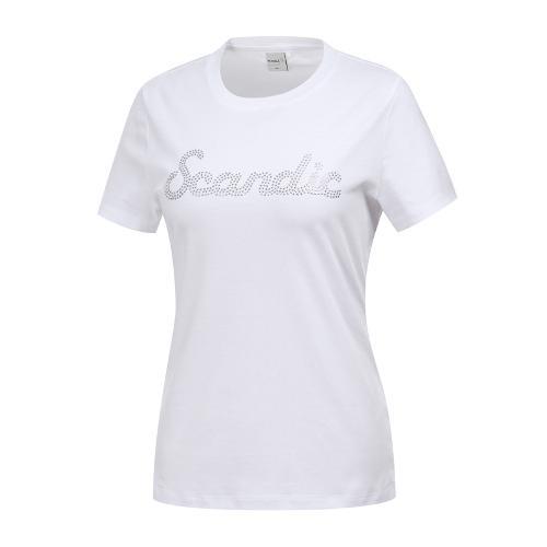 [와이드앵글] 여성 클럽스칸딕 비즈포인트 라운드티셔츠 WWM19264W2