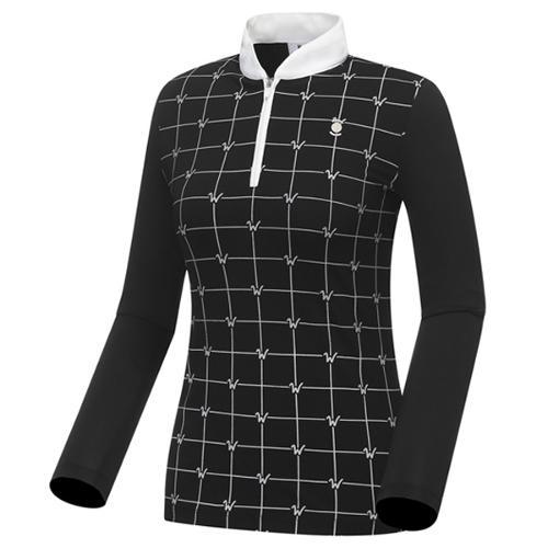 [와이드앵글] SCANDIC 사각패턴 집업 티셔츠 WWP18232Z1