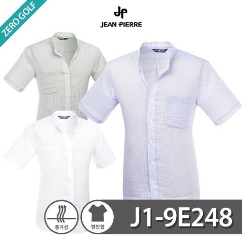 [JEAN PIERRE] 쟌피엘 잔줄무늬 차이나 카라 반팔 남방셔츠 Model No_J1-9E248