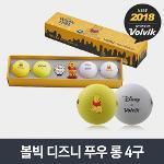 정품 볼빅 VIVID 비비드 디즈니 푸우 롱 4구 골프공골프볼볼마커