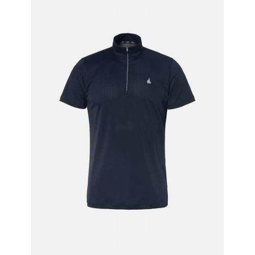 [빈폴골프] 남성 네이비 톤온톤 스트라이프 반집업 티셔츠 (BJ9442B28R)