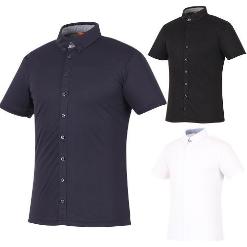 [김영주골프] 여름 올버튼 쿨 남성 티셔츠 GJMMQT92