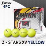 던롭 스릭슨 Z-STAR6 XV 4피스 옐로우 골프볼 골프공
