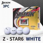 던롭 스릭슨 Z-STAR6 3피스 화이트 골프볼 골프공