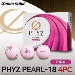브리지스톤 NEW PHYZ PEARL-18 4피스 골프공 핑크