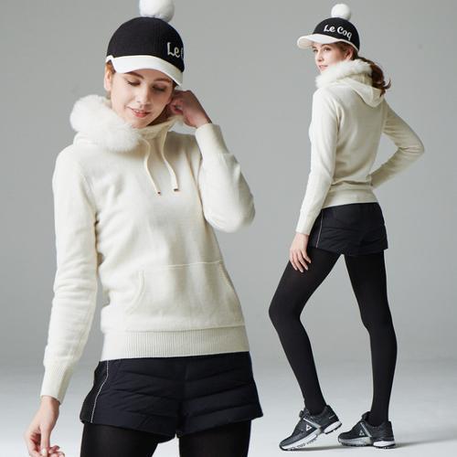 [르꼬끄골프] [30% OFF]여성 후드퍼 방풍 스웨터 (G8422LKP35)