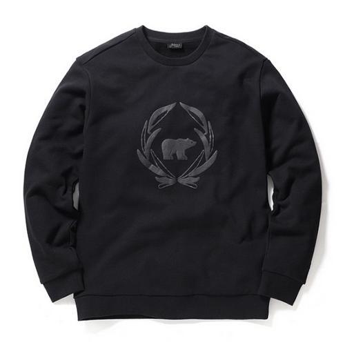 [JACKNICKLAUS] 골든베어 톤온톤 맨투맨 티셔츠_L4TAS19021BKX