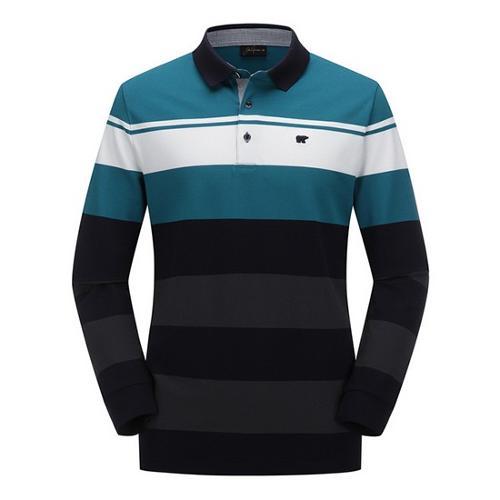 [JACKNICKLAUS] 남성 믹스 컬러 블록 카라 티셔츠_LNTAA18121NYX