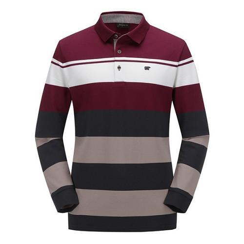 [JACKNICKLAUS] 남성 믹스 컬러 블록 카라 티셔츠_LNTAA18121WIX