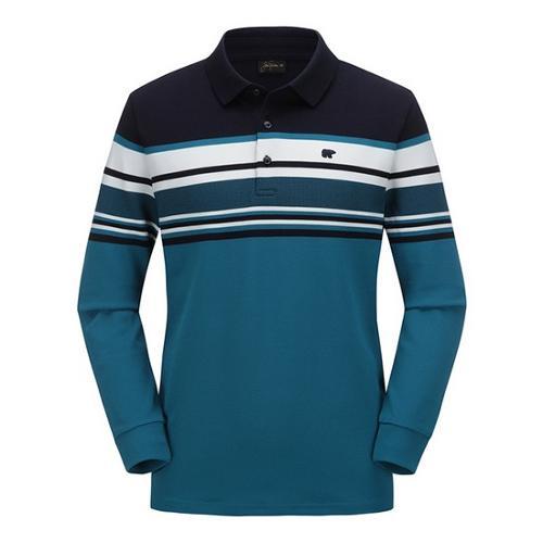 [JACKNICKLAUS] 남성 블록 패턴 카라 티셔츠_LNTAA18101MIX