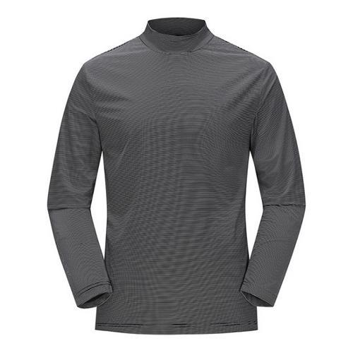 [JACKNICKLAUS] 남성 아이스 스킨 하이넥 티셔츠_LNTAM18841BKX