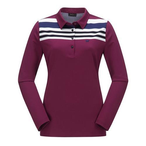 [JACKNICKLAUS] 여성 블럭 배색 카라 티셔츠_LWTAA18071WIX