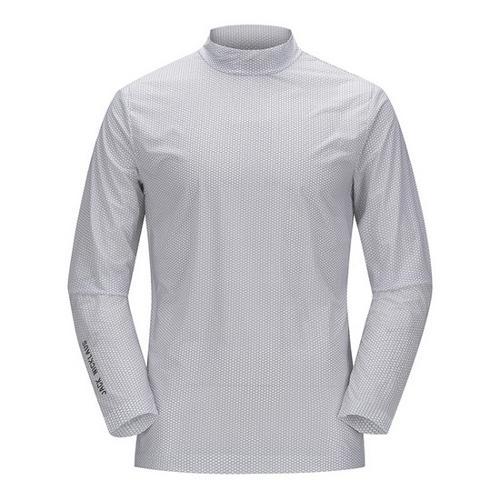 [JACKNICKLAUS] 남성 아이스 스킨 하이넥 티셔츠_LNTAM18841GYX
