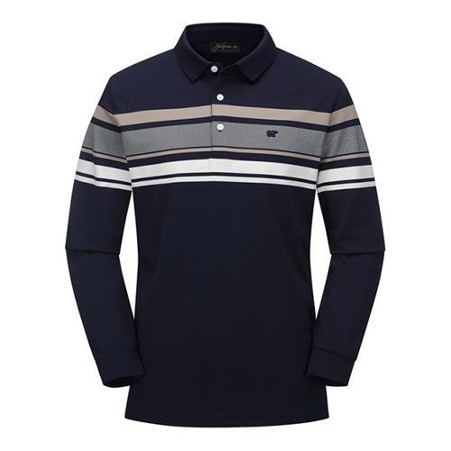 [JACKNICKLAUS] 남성 블럭 배색 카라 티셔츠_LNTAS19061NYX