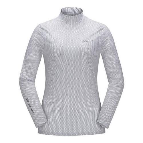 [JACKNICKLAUS] 여성 허니컴프린트 아이스 스킨 티셔츠_LWTAM18931GYX