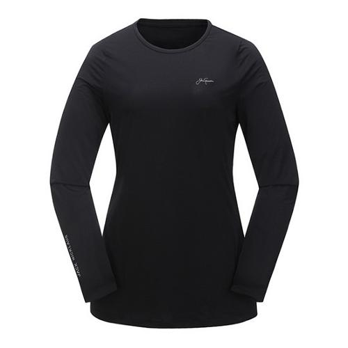 [JACKNICKLAUS] 여성 미니멀 아이스 스킨 티셔츠_LWTAM18941BKX