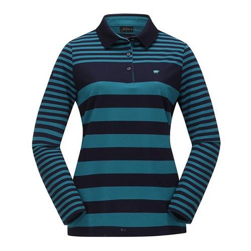[JACKNICKLAUS] 여성 S/T 블럭 카라 티셔츠_LWTAA18061MIX