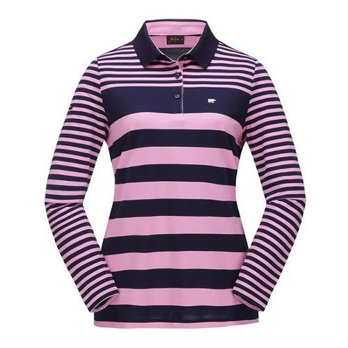 [JACKNICKLAUS] 여성 S/T 블럭 카라 티셔츠_LWTAA18061PIX