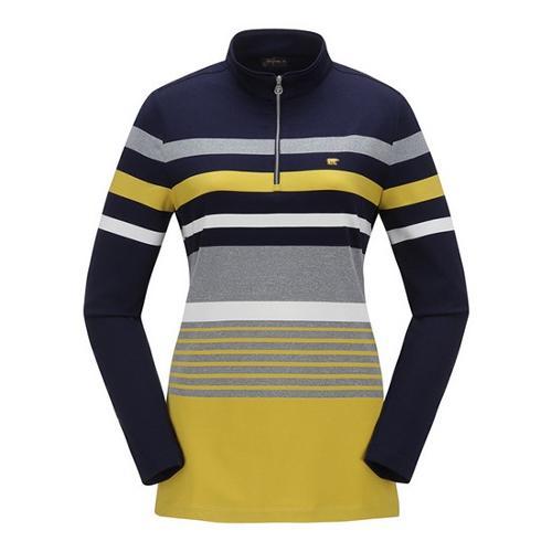 [JACKNICKLAUS] 여성 컬러 믹스 블록 티셔츠_LWTAA18051NYX