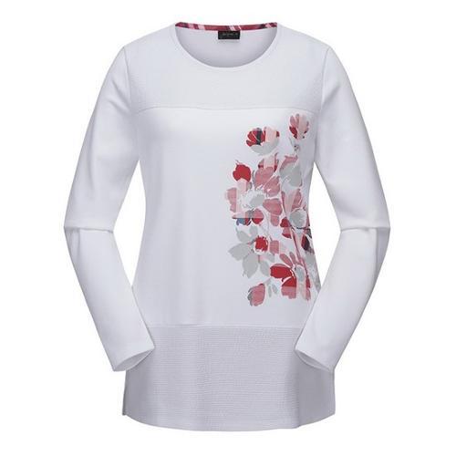 [JACKNICKLAUS] 여성 블랜드 프린트 티셔츠_LWTAS19091IVX