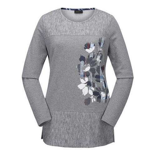 [JACKNICKLAUS] 여성 블랜드 프린트 티셔츠_LWTAS19091GYX