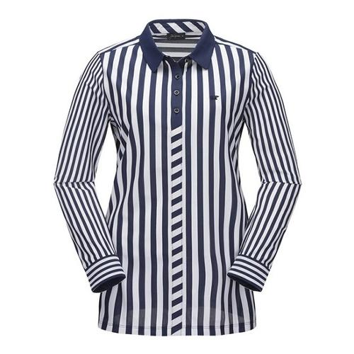 [JACKNICKLAUS] 여성 S/T 에어 도트 카라 티셔츠_LWTAS19051NYX