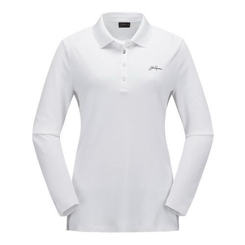 [JACKNICKLAUS] 여성 S/T 배색 포인트 티셔츠_LWTAA18811WHX