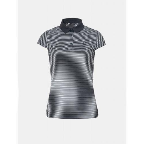 [빈폴골프] 여성 블랙 핀 스트라이프 칼라 티셔츠 (BJ9442A575)