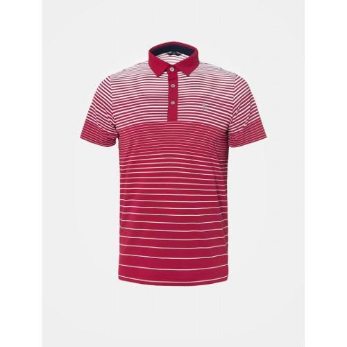 [빈폴골프] 남성 핑크 그라데이션 스트라이프 칼라 티셔츠 (BJ9442B25X)