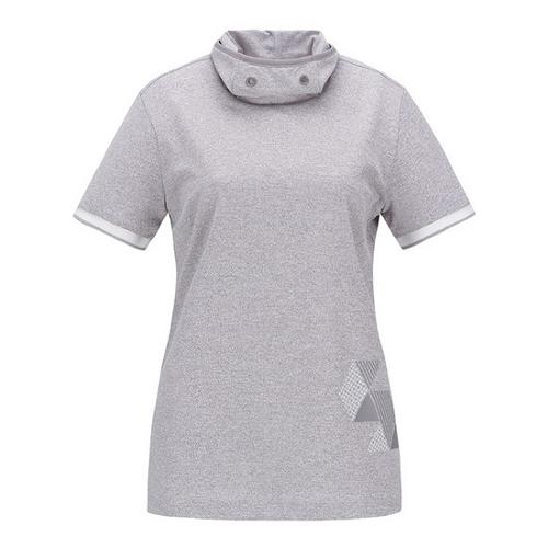 [ELORD] GX 여성 터틀넥 반팔 티셔츠_NQTCM19905GYX
