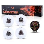 [볼빅] S3 몬스터에디션 3피스 골프공 선물세트(4구+볼마커)