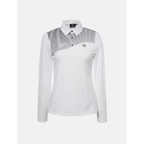 [빈폴골프] [THE OPEN] 여성 화이트 원포인트 칼라 티셔츠 (BJ8741E041)