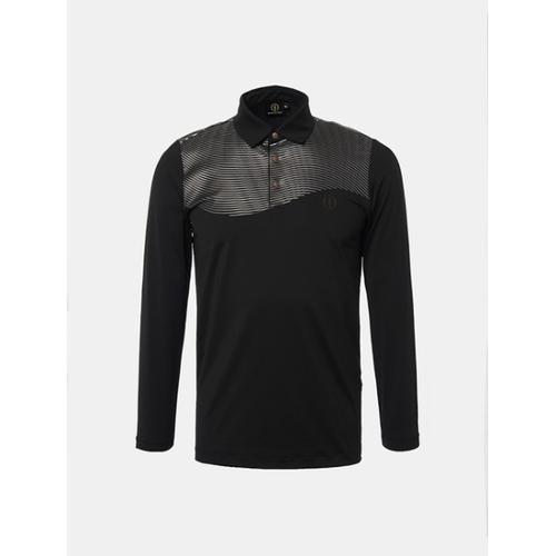 [빈폴골프] [THE OPEN] 남성 블랙 원포인트 칼라 티셔츠 (BJ8741F335)