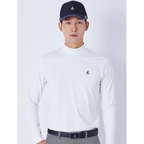 [빈폴골프] 남성 화이트 하이넥 긴팔 티셔츠 (BJ8841B011)