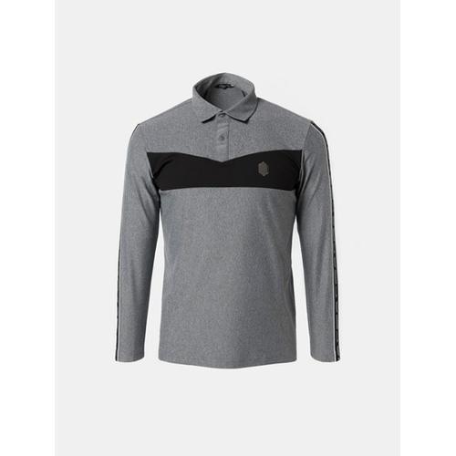 [빈폴골프] [NDL라인] 남성 그레이 프론트 포인트 칼라 티셔츠 (BJ8841M623)