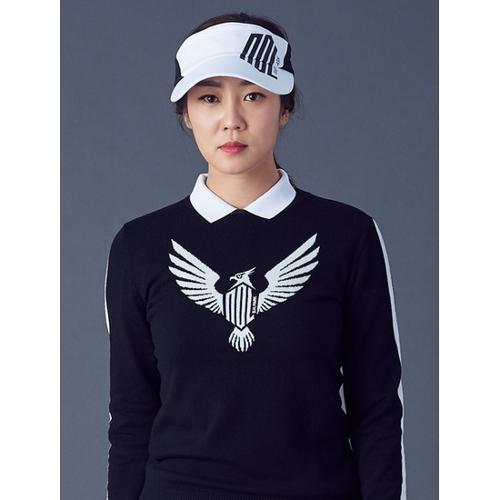 [빈폴골프] [NDL라인] 여성 블랙 로고 라운드넥 스웨터 (BJ8851L015)