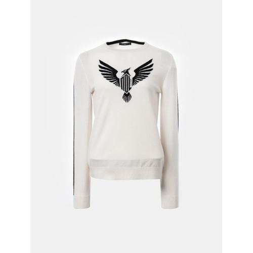 [빈폴골프] [NDL라인] 여성 아이보리 로고 라운드넥 스웨터 (BJ8851L010)