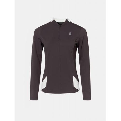 [빈폴골프] [NDL라인] 여성 브라운 배색 반집업 티셔츠 (BJ9841L48D)