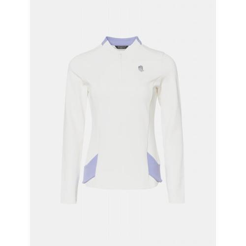 [빈폴골프] [NDL라인] 여성 화이트 배색 반집업 티셔츠 (BJ9841L481)