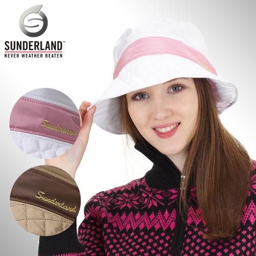 [Sunderland Of Scotland] 선덜랜드 여성 금사로고 퀄팅 벙거지 속귀마개모자 - 16342CP14